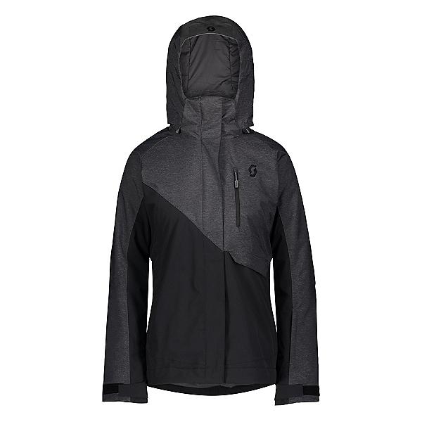 Scott Ultimate Dryo 10 Womens Insulated Ski Jacket, Dark Grey Melange-Black, 600