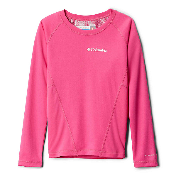 Columbia Midweight Crew 2 Girls Long Underwear Top, Pink Ice, 600