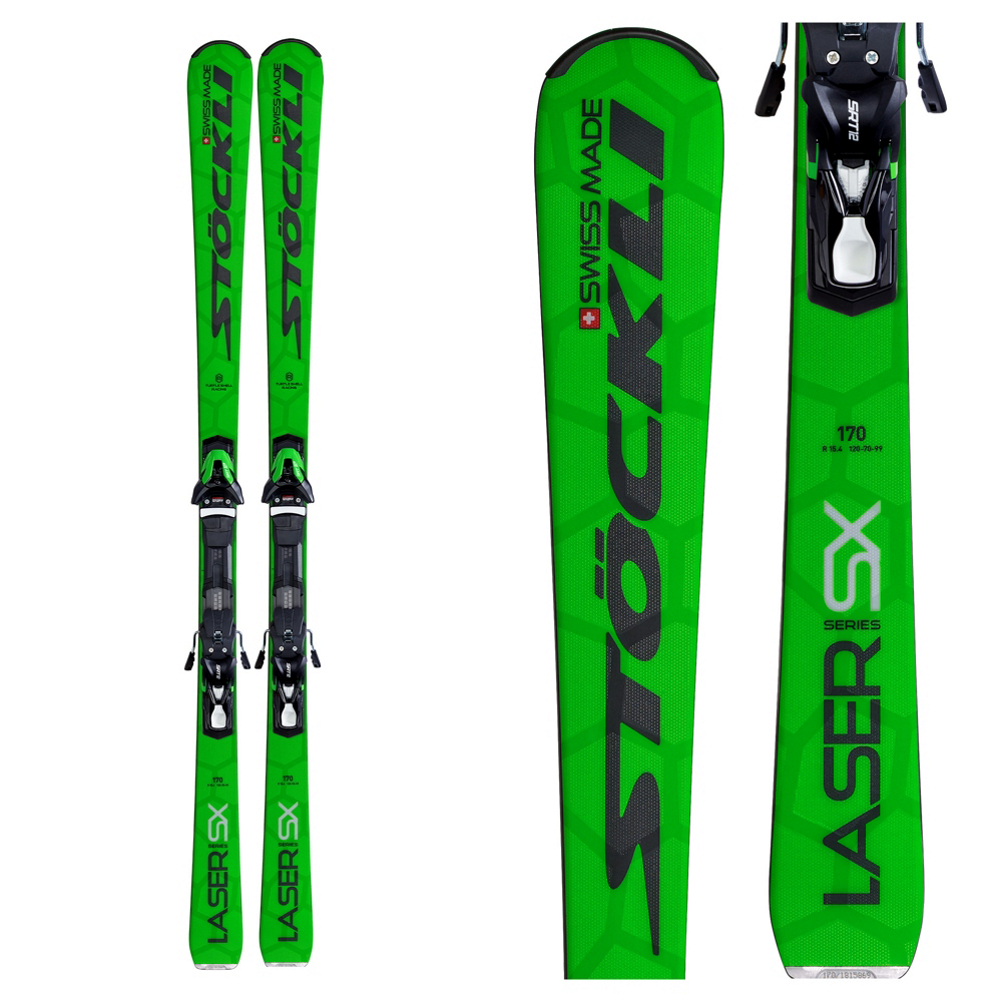 Stockli Laser SX Skis with MC 12 Sport Bindings 2020
