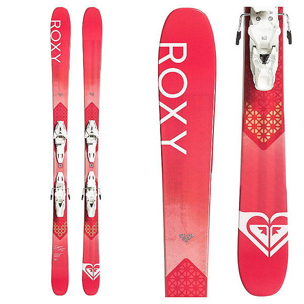 Roxy Dreamcatcher 85 Womens Skis with Roxy Lithium 10 GW by Salomon Bindings 2020, , 600