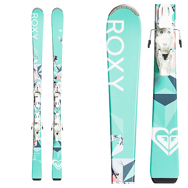 Roxy Kaya 72 Womens Skis with Roxy Lithium 10 GW by Salomon Bindings 2020, , 600