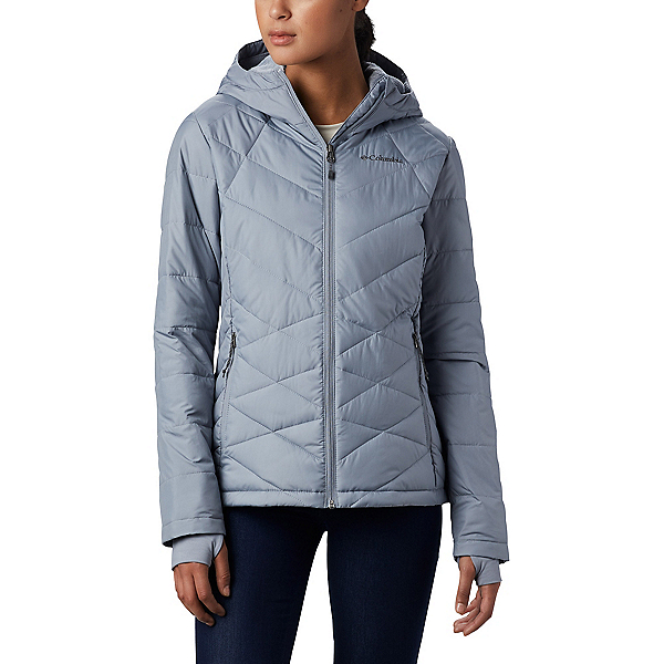 Columbia Heavenly Hooded - Plus Womens Jacket, Tradewinds Grey, 600