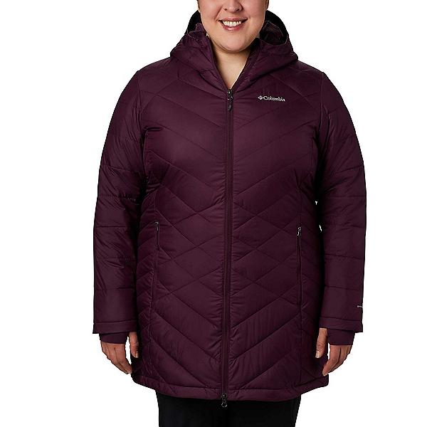 Columbia Heavenly Hooded Long - Plus Womens Jacket, Dark Cherry, 600
