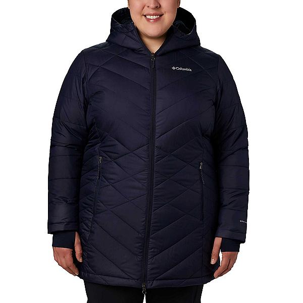 Columbia Heavenly Hooded Long - Plus Womens Jacket, Dark Nocturnal, 600