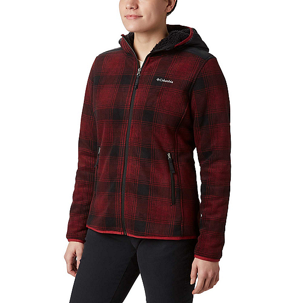Columbia Winter Pass Print Fleece Full Zip Womens Jacket, Beet Check Print, 600