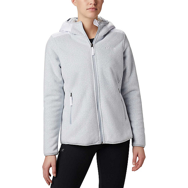 Columbia Winter Pass Print Fleece Full Zip Womens Jacket 2020, Cirrus Grey Dot Print, 600