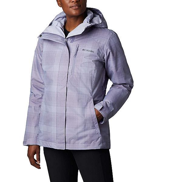 Columbia Whirlibird IV - Plus Womens Insulated Ski Jacket, Dusty Iris Simple Lines Print, 600