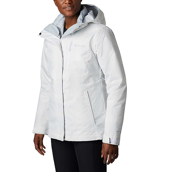 Columbia Whirlibird IV - Plus Womens Insulated Ski Jacket 2020, White Simple Lines Print, 600