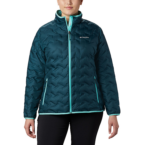 Columbia Delta Ridge Down - Plus Womens Jacket 2020, Dark Seas-Aquarium, 600
