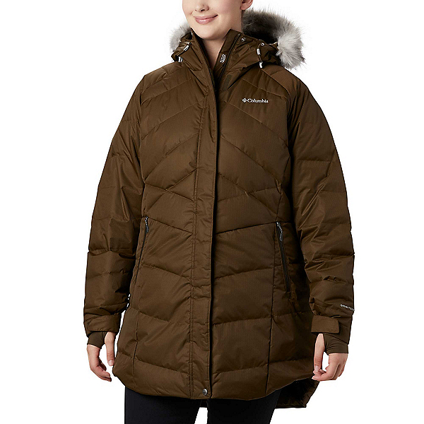 Columbia Lay D Down II Mid - Plus w/Faux Fur Womens Jacket, Olive Green, 600