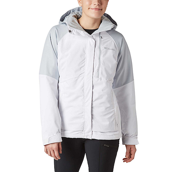 Columbia Wildside Womens Insulated Ski Jacket, White-Cirrus Grey Heather, 600