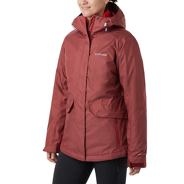 Columbia Emerald Lake II Interchange Womens Insulated Ski Jacket, Beet Diamond Texture, 600