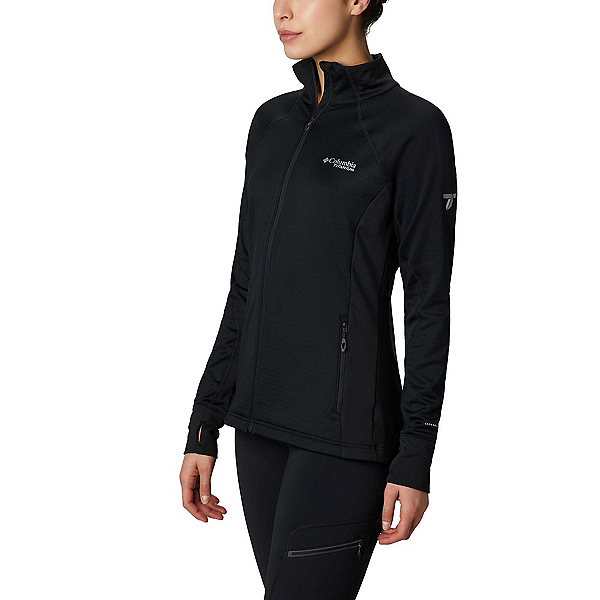 Columbia Mount Defiance Fleece Womens Mid Layer, Black, 600