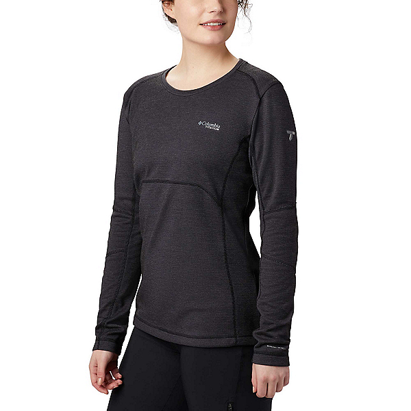 Columbia Mount Defiance Long Sleeve Knit Womens Long Underwear Top, Black, 600