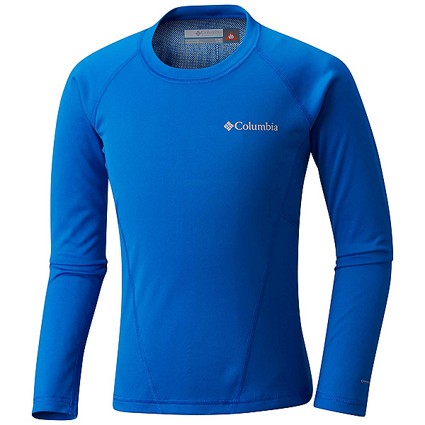 Columbia Midweight Crew 2 Kids Long Underwear Top, Super Blue, 600