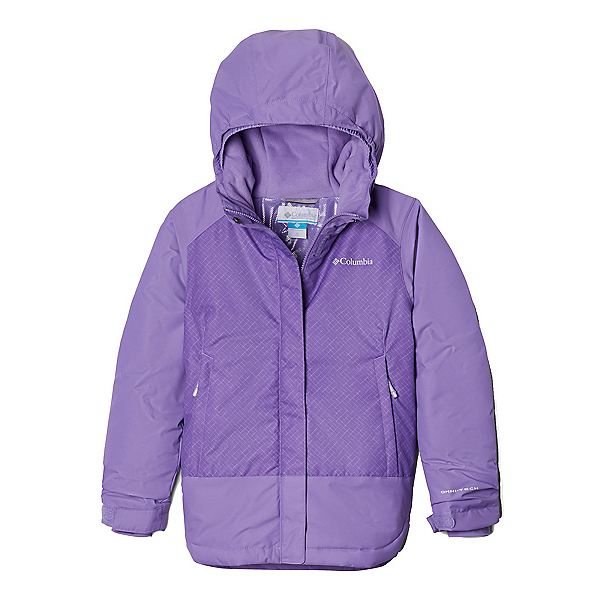 Columbia Mighty Mogul Girls Ski Jacket, Grape Gum Diagonal Check-Paisl, 600