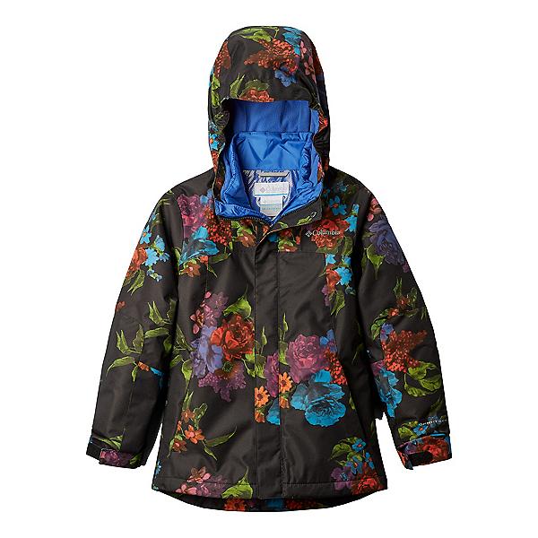 Columbia Whirlibird II Interchange Girls Ski Jacket, Black Floral, 600