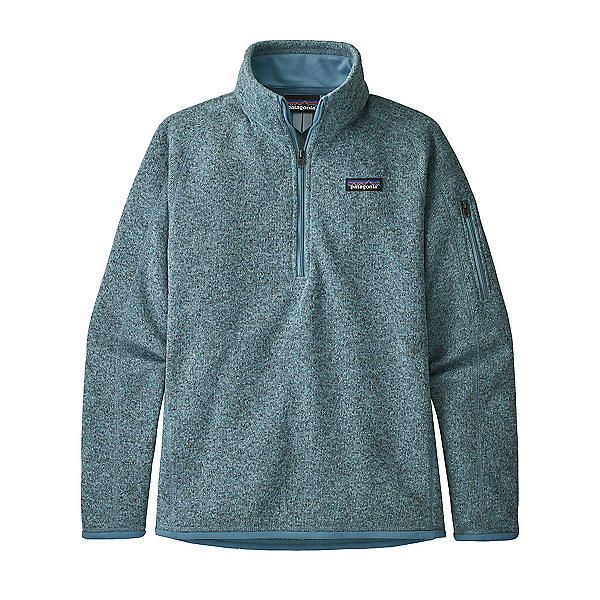 Patagonia Better Sweater 1/4 Zip Womens Mid Layer, Berlin Blue, 600
