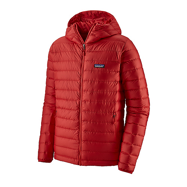 Patagonia Down Sweater Hoody Mens Jacket, Fire W-Fire, 600