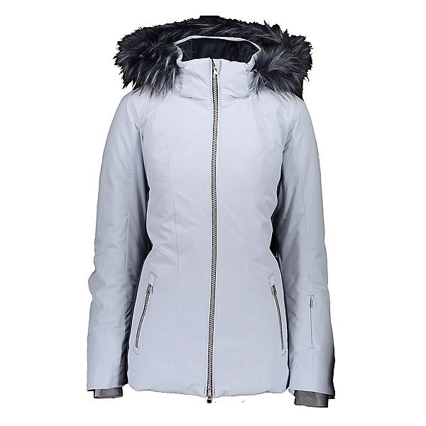 Obermeyer Siren Faux Fur Womens Insulated Ski Jacket, Ice Ice Baby, 600