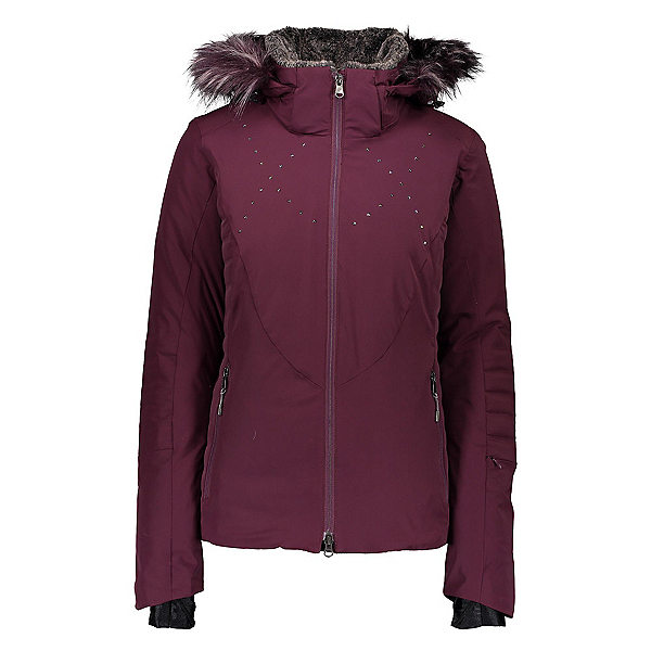 Obermeyer Evanna Down Womens Insulated Ski Jacket 2020, Wine Not, 600