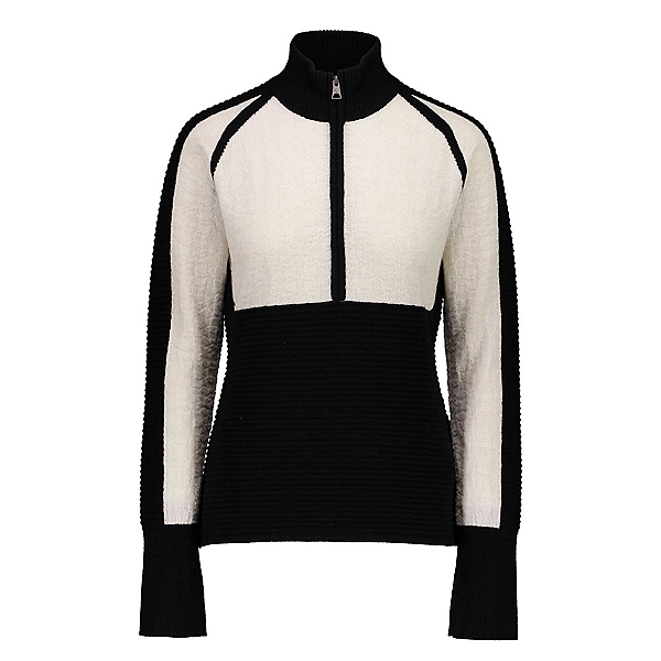Obermeyer Dolly Cashmere-Blend Half Zip Womens Sweater, Sheer Bliss, 600