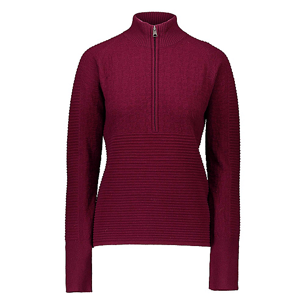 Obermeyer Dolly Cashmere-Blend Half Zip Womens Sweater, Wine Not, 600