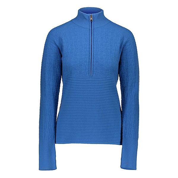 Obermeyer Dolly Cashmere-Blend Half Zip Womens Sweater 2020, Azure, 600