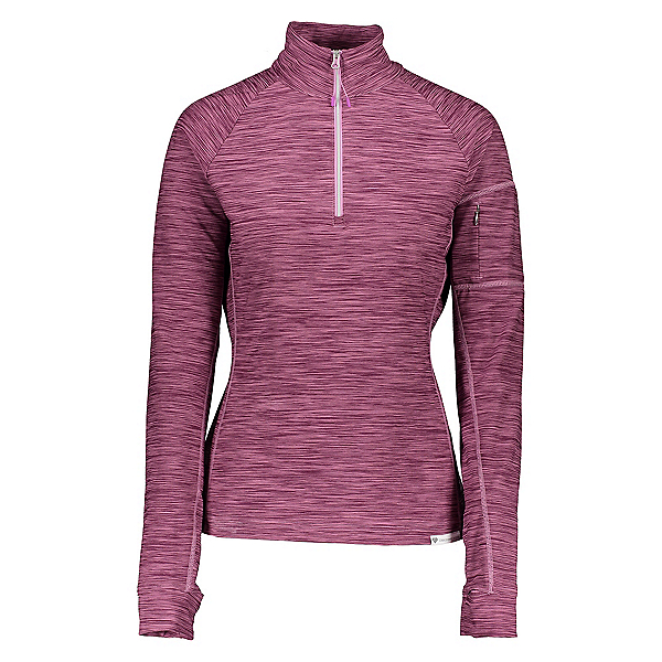 Obermeyer Discover 1/4 Zip Womens Mid Layer, Lilacquer, 600