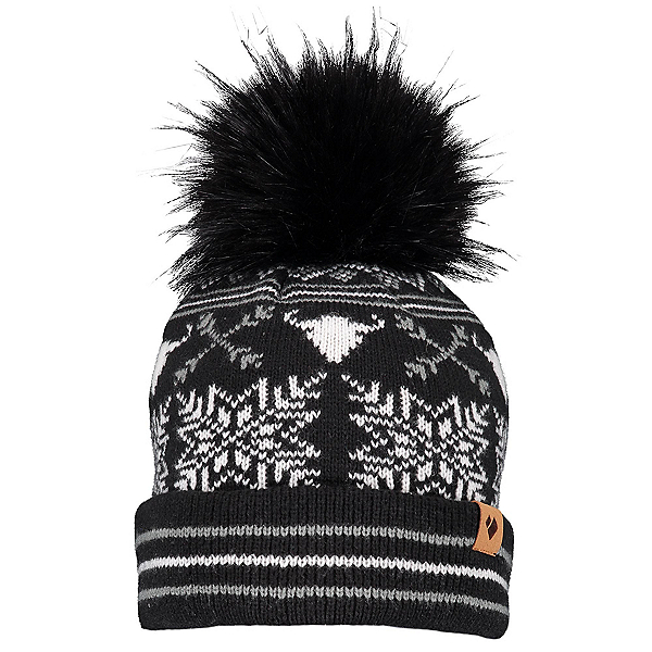Obermeyer Dallas Knit Pom Womens Hat 2020, Black, 600