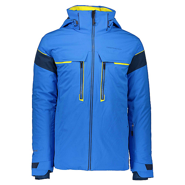 Obermeyer Charger Mens Insulated Ski Jacket, Blue Vibes, 600