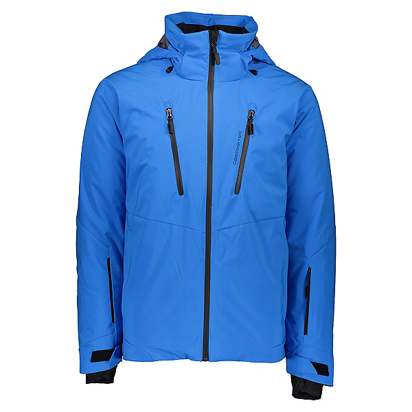 Obermeyer Raze Mens Insulated Ski Jacket, Blue Vibes, 600