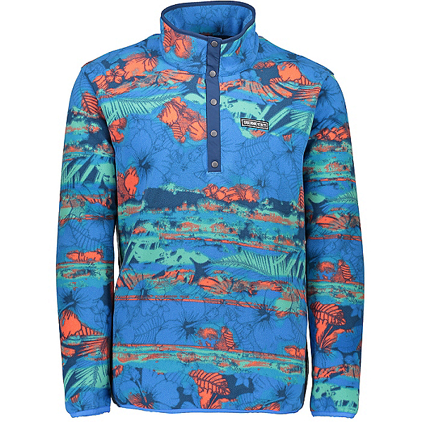 Obermeyer Boulder Fleece Mens Jacket, Totally Radical, 600