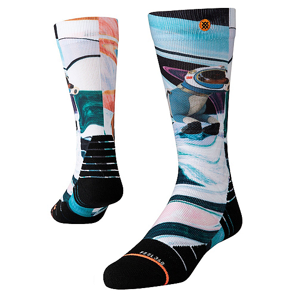 Stance Astro Dog Womens Snowboard Socks, , 600