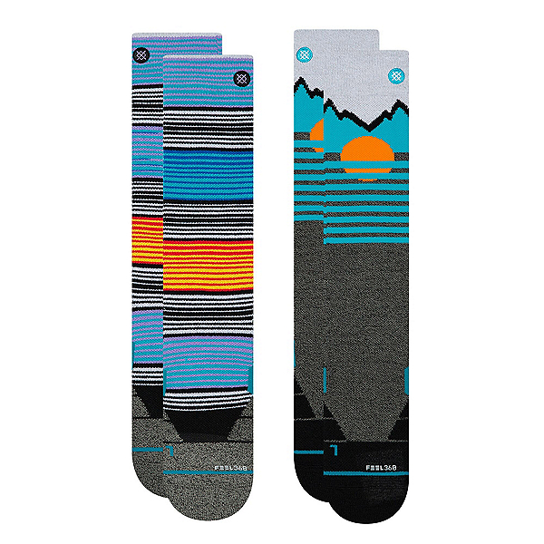 Stance Mountain 2 Pack Snowboard Socks, , 600
