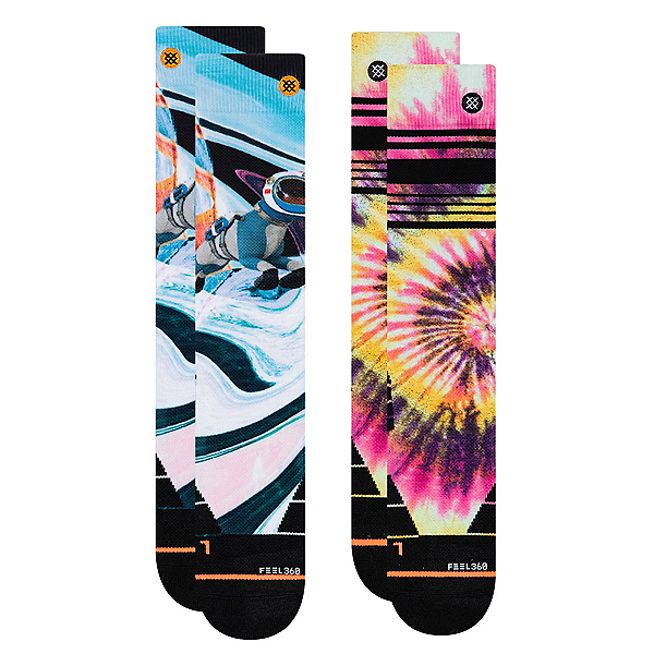 Stance Mountain 2 Pack Womens Snowboard Socks, , 600