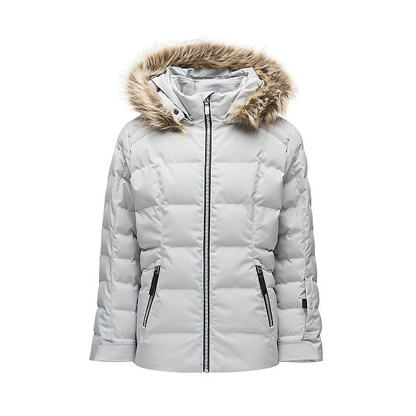 Spyder Atlas Synthetic Down Girls Ski Jacket, Silver, 600