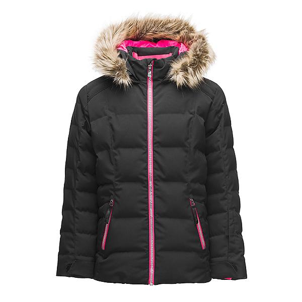 Spyder Atlas Synthetic Down Girls Ski Jacket, Black, 600