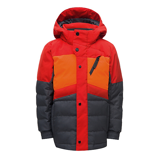 Spyder Mini Trick Synthetic Down Toddler Ski Jacket, Linear Emboss Ebony, 600