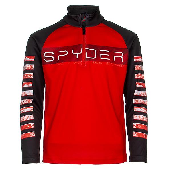 Spyder Limitless Peak Zip T-Neck Kids Midlayer, Volcano, 600