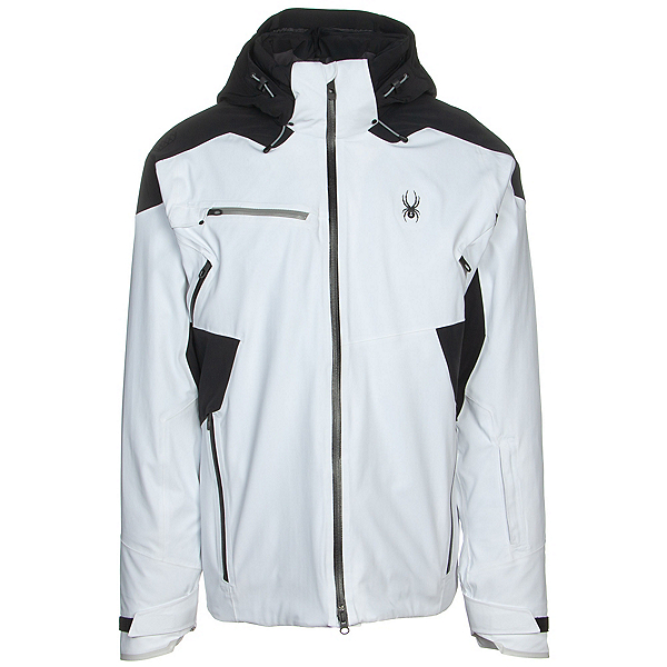 Spyder Vanqysh GTX Mens Insulated Ski Jacket, White, 600