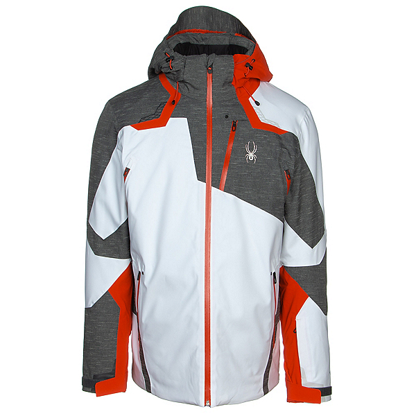 Spyder Leader GTX Mens Insulated Ski Jacket, White, 600