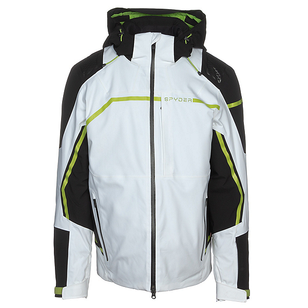 Spyder Titan GTX Mens Insulated Ski Jacket, White, 600