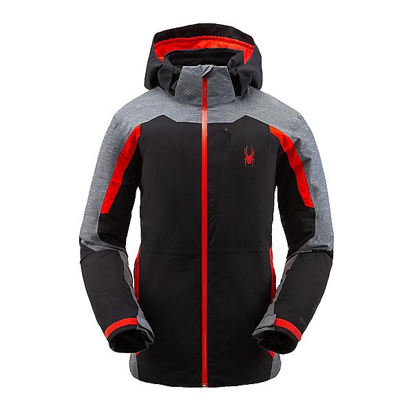 Spyder Copper GTX Mens Insulated Ski Jacket, Black-Volcano, 600