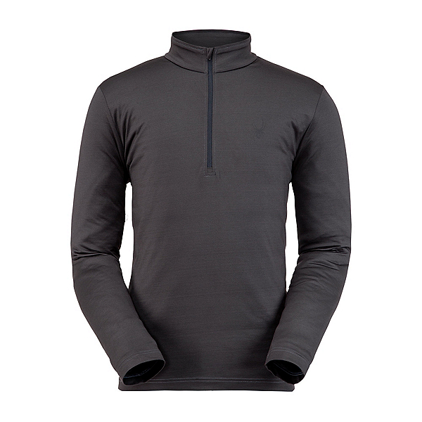 Spyder Prospect Zip T-Neck Mens Mid Layer, Ebony, 600