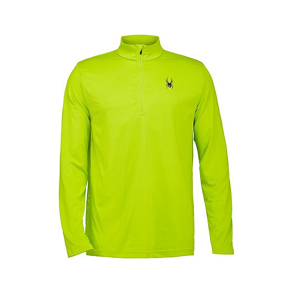 Spyder Prospect Zip T-Neck Mens Mid Layer, Sharp Lime, 600