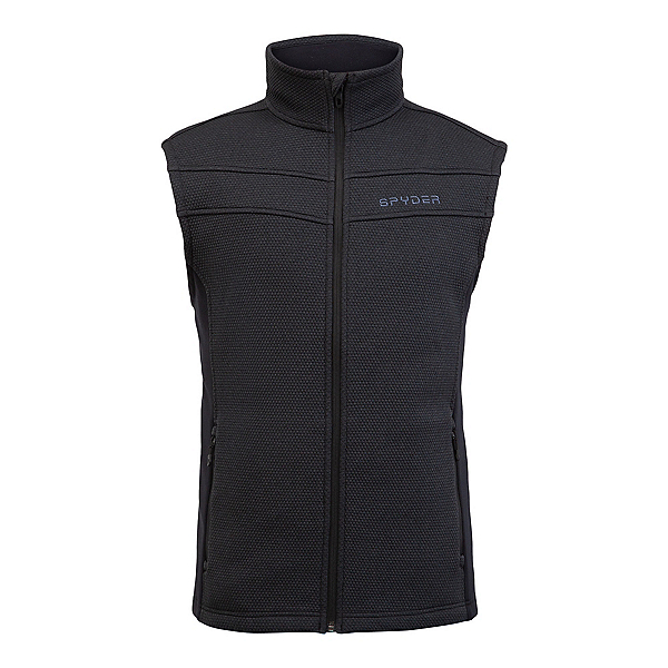Spyder Encore Fleece Mens Vest 2022, Black, 600
