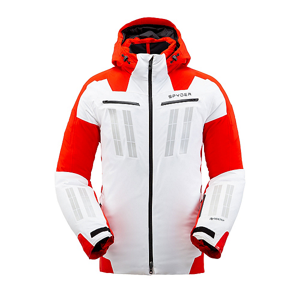 Spyder Monterosa GTX Mens Insulated Ski Jacket 2020, White, 600