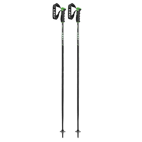 Leki Neolite Airfoil Ski Poles 2020, Black-Green, 600
