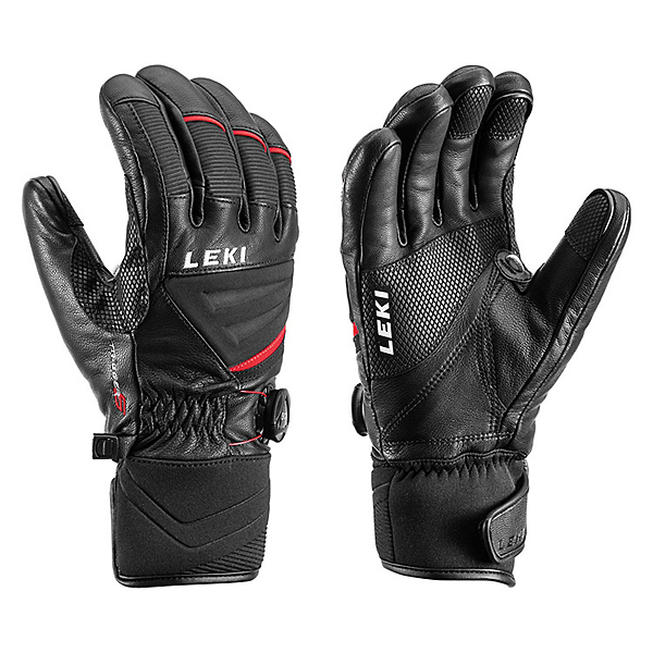 Leki Griffin Tune S Boa Gloves 2020, Black-Red, 600